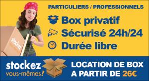 location box de stockage Brest, Blois, Cholet, Poitiers, Tours