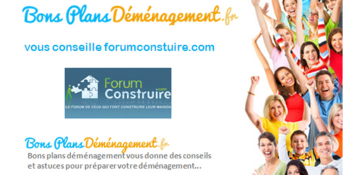 bonsplansdemenagement.fr conseille le site internet ForumConstruire.com. A travers le blog bonsplansdemenagement.fr, nous partagerons ce savoir-faire afin de vous guider dans votre déménagement.